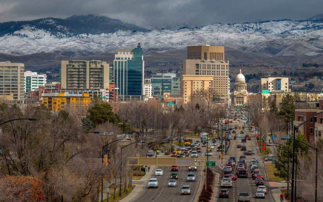 The city of Boise Idaho